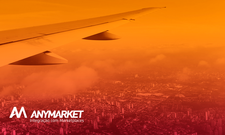 Airplane simbolizing ANYMARKET's expansion to Latin America