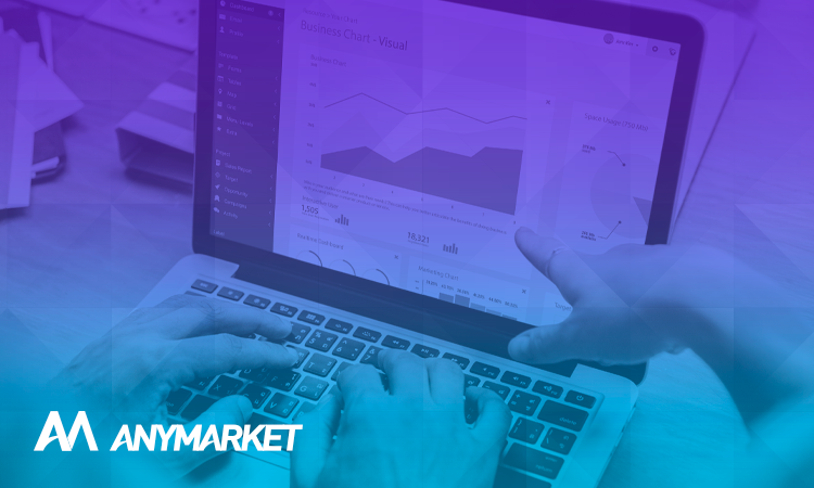 KPIS logísticos em monitor, no blog do ANYMARKET