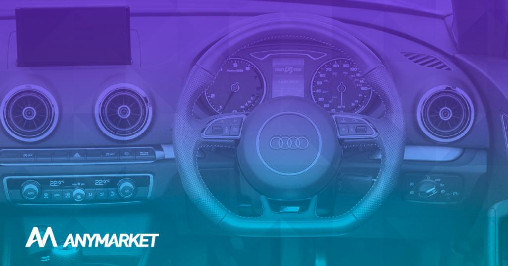 Painel de carro ilustrando a pratica de vender auto parts no mercado livre